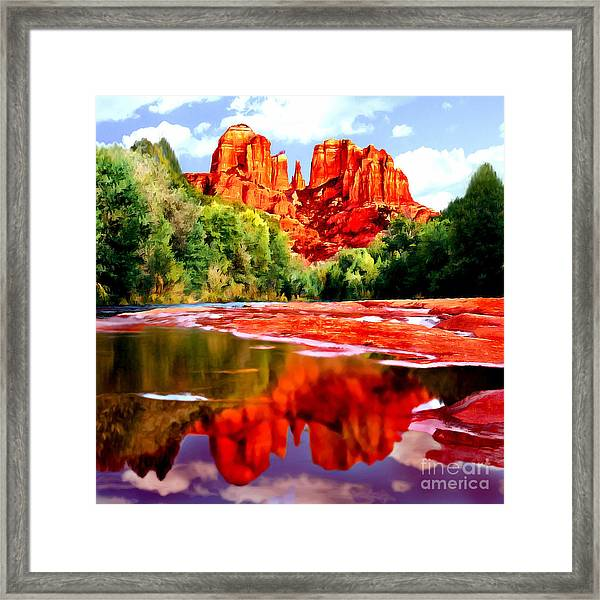 Cathedral Rock Sedona Arizona Framed Print
