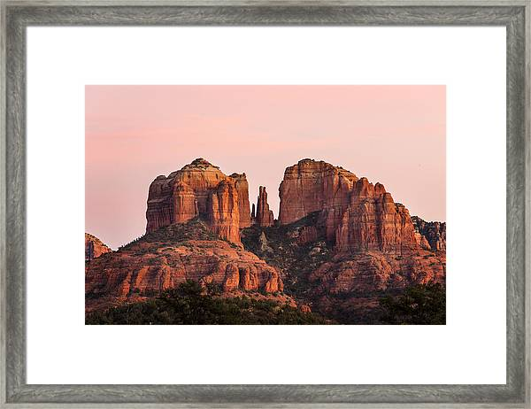 Cathedral Rock Sunset Framed Print