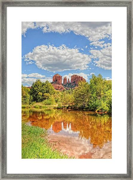 Framed Print featuring the photograph Cathedral Rock Tone Mapped by David Armstrong