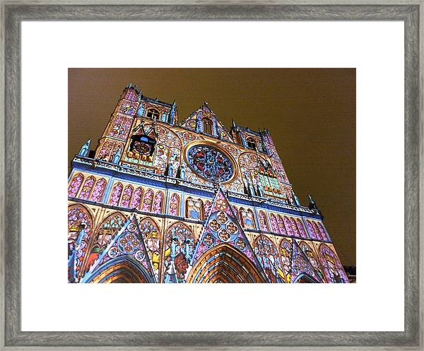Cathedrale Saint-jean Illuminee Framed Print
