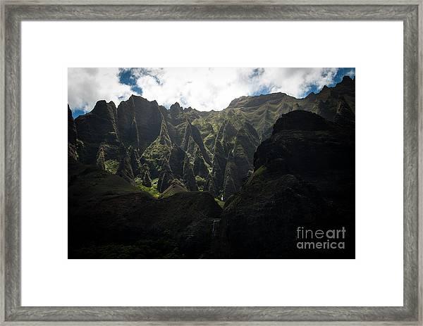 Cathedrals Na Pali Coast Framed Print