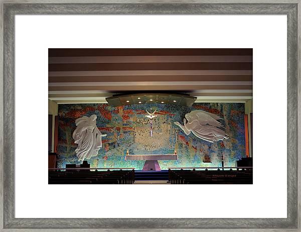 Catholic Chapel At Air Force Academy Framed Print