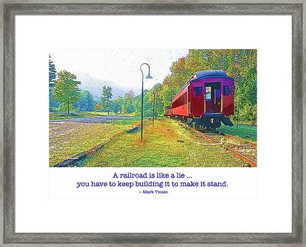 Catskill Mountain Railroad In Autumn Framed Print