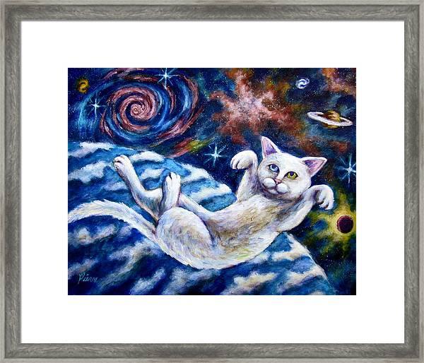 Catstronaught Framed Print
