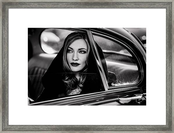 Caught In A Moment Of Absence... Framed Print