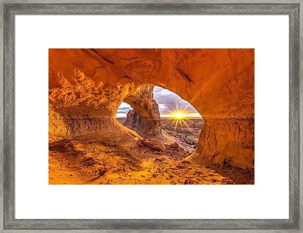 Cave Arch Framed Print