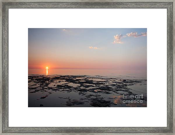 Cave Point Pools Framed Print