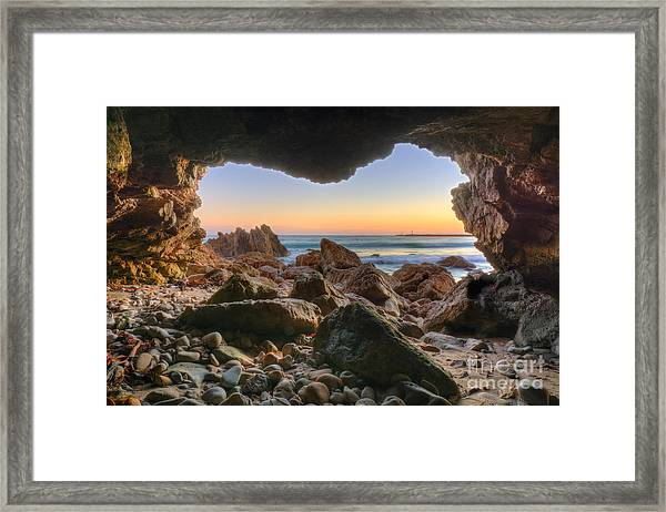 Beachside Cave Framed Print