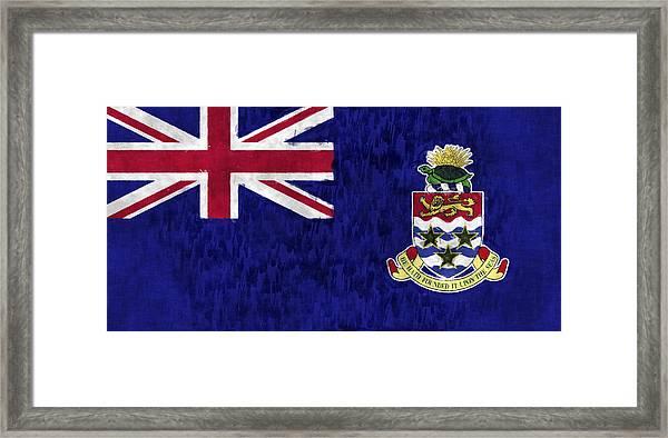 Cayman Islands Flag Framed Print