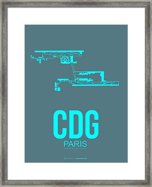 Cdg Paris Airport Poster 1 Framed Print