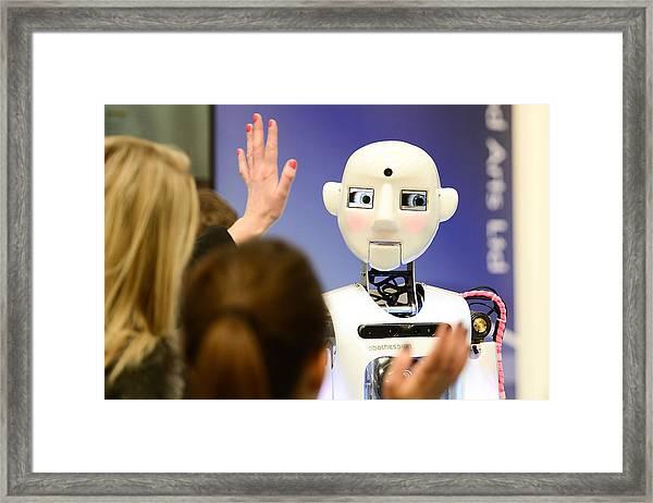 Cebit 2014 Technology Trade Fair Framed Print by Nigel Treblin