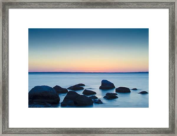 Cedar Tree Neck Sunrise Framed Print