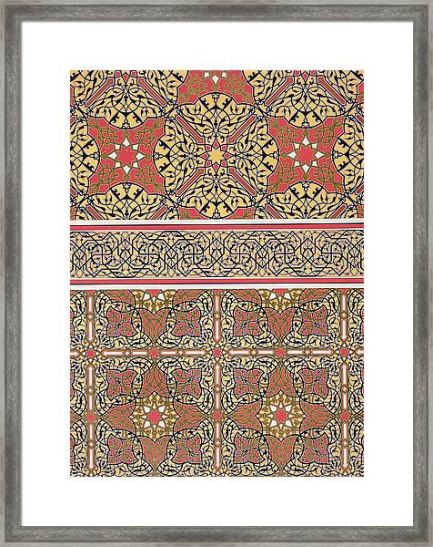 Ceiling Arabesques From The Mosque Of El-bordeyny Framed Print