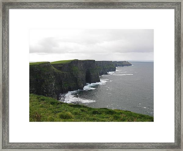 Framed Print featuring the photograph Celtic Cliffs by Barbara Von Pagel