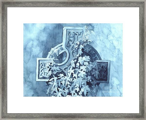 Celtic Cross Study Framed Print