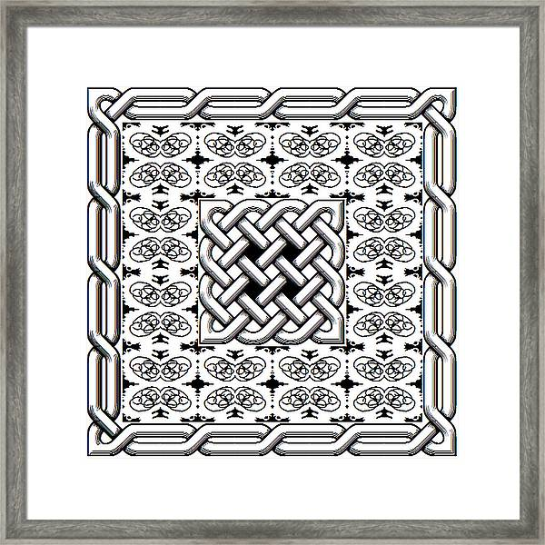 Celtic Knot Abstract Framed Print