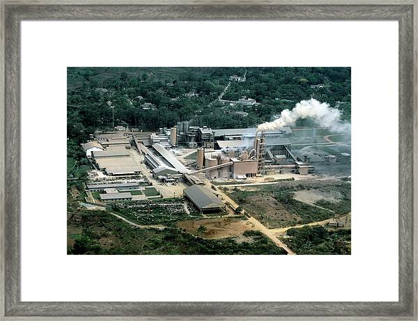 Cement Factory Framed Print