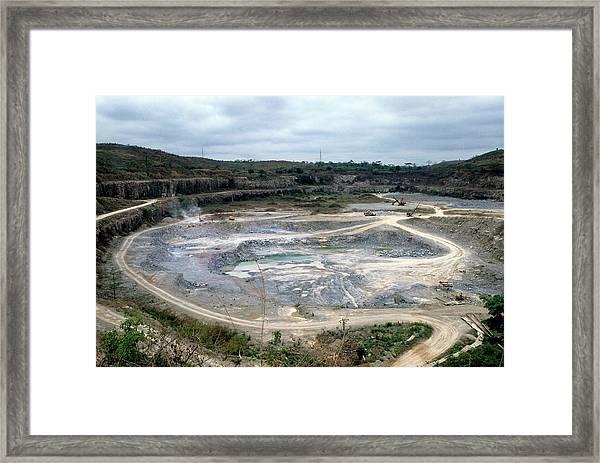 Cement Quarry Framed Print