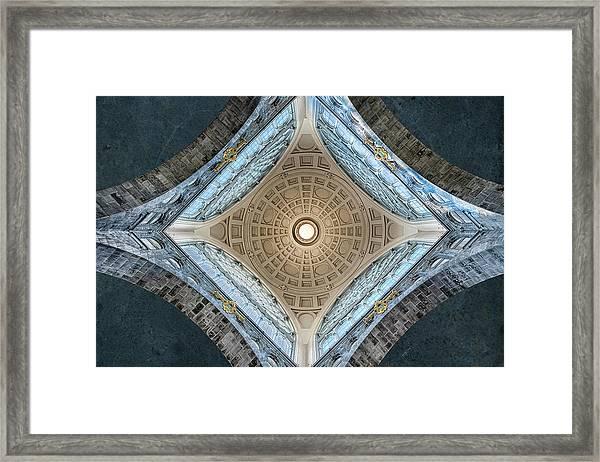 Center Point Framed Print