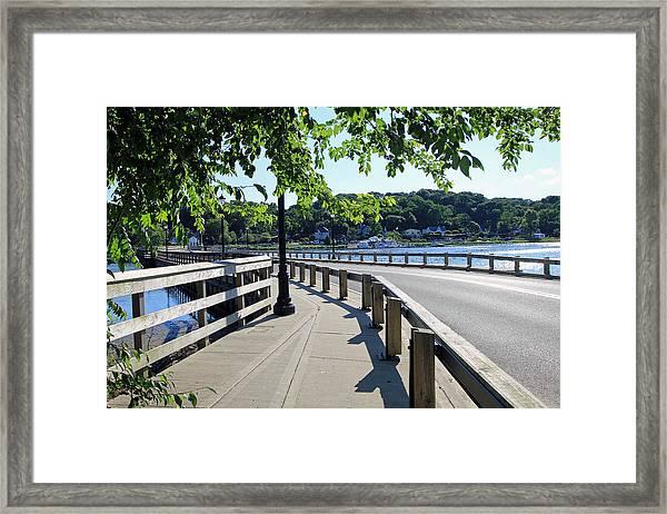 Centerport Bridge Long Island New York Framed Print