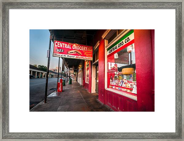 Central Grocery And Deli In New Orleans Framed Print