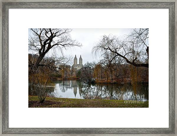 Central Park And San Remo Building In The Background Framed Print