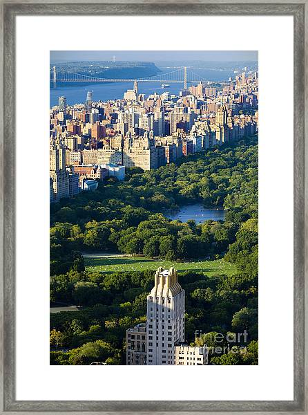 Framed Print featuring the photograph Central Park by Brian Jannsen