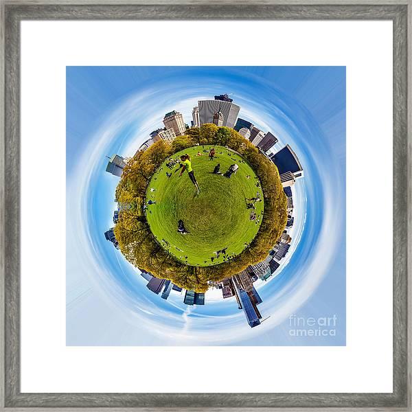 Central Park Circagraph  Framed Print