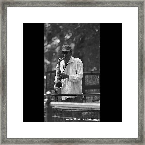 Central Park Sax Framed Print