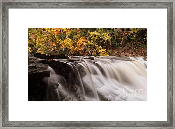 Chagrin River Falls Framed Print by Joshua Clark