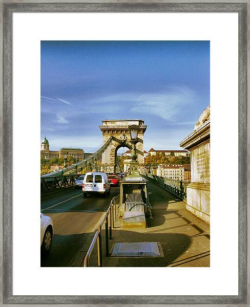 Chain Bridge-1 Framed Print by Janos Kovac