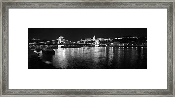 Chain Bridge-budapest Framed Print