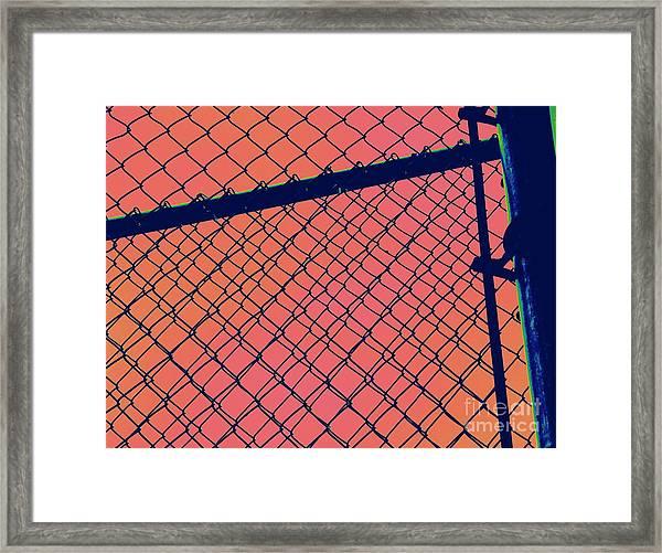 Chain Link Framed Print by A K Dayton