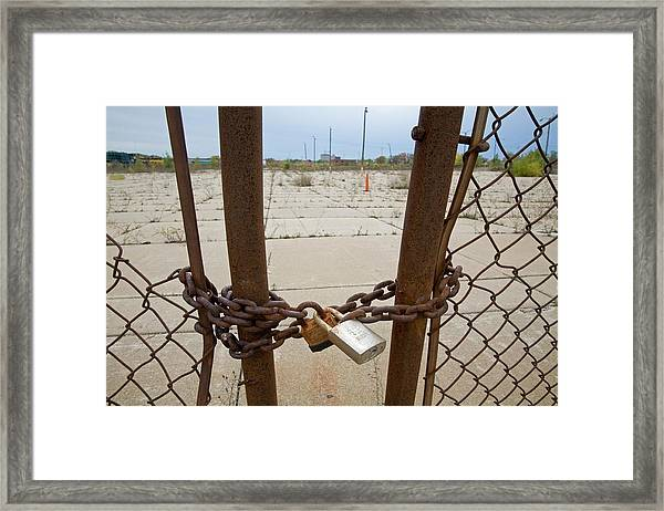 Chained And Padlocked Gate Framed Print by Jim West