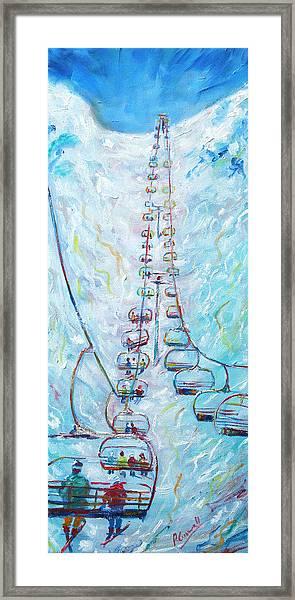 Chair Lift Framed Print