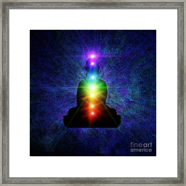 Chakra Buddha Framed Print