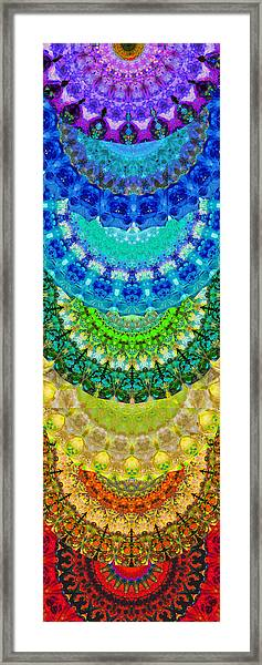 Chakra Mandala Healing Art By Sharon Cummings Framed Print