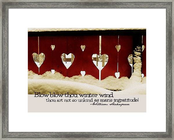 Chalet De Coeur Quote Framed Print by JAMART Photography