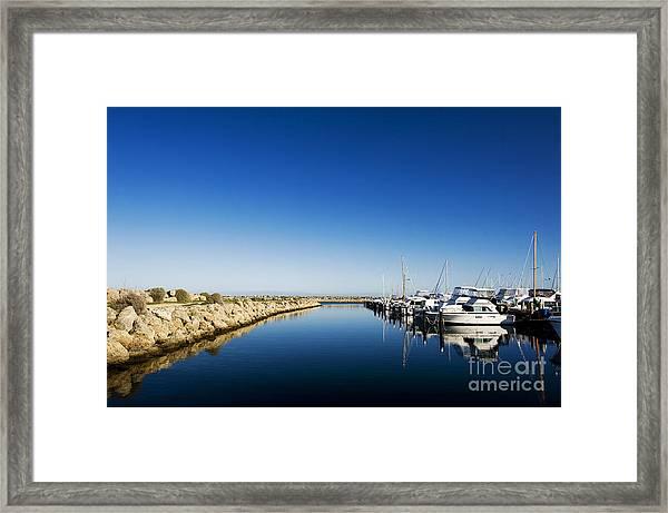 Challenger Harbour Of Fremantle Framed Print