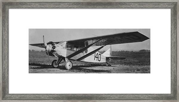 Chamberlain's Bellanca 140 Columbia Framed Print by Hank Clark