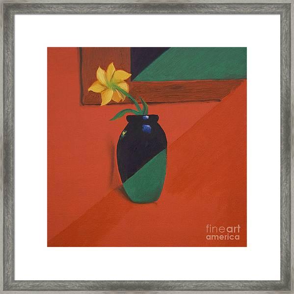 Chameleons Vase Framed Print