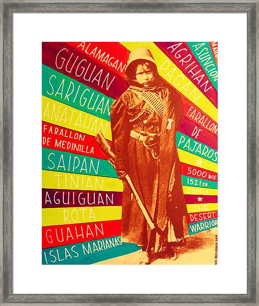 Chamorro Revolutionary Framed Print