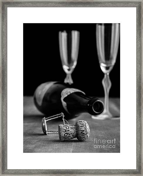 Framed Print featuring the photograph Champagne Bottle Still Life by Edward Fielding
