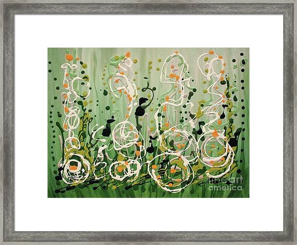 Champagne Symphony Framed Print