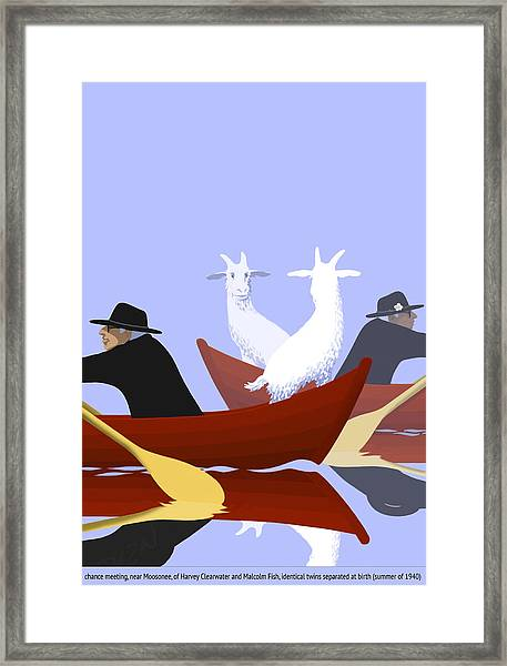 Chance Meeting Framed Print