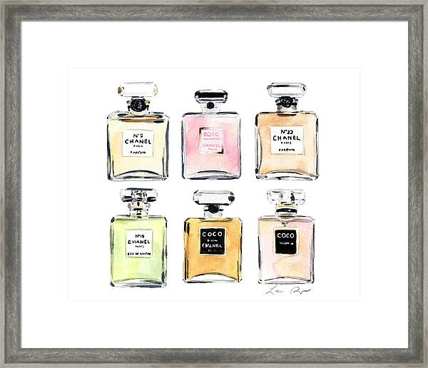 Chanel Perfumes Framed Print