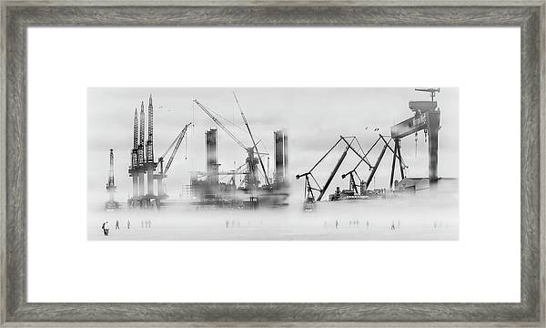 Change Of Shift Framed Print by Margit Lisa Roeder