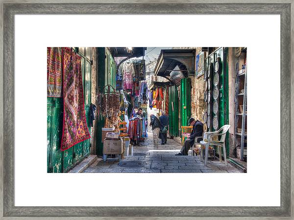 Changing Colors Of The Market Framed Print