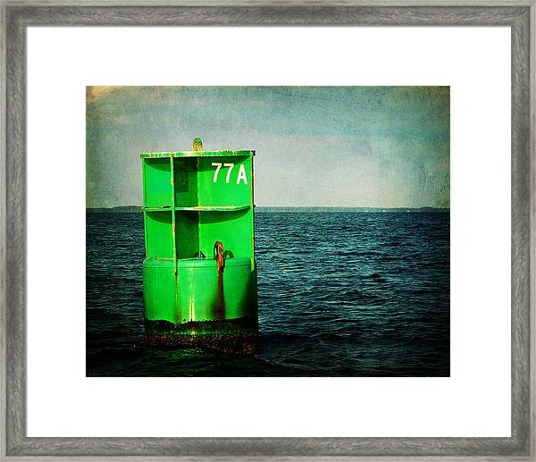 Channel Marker 77a Framed Print