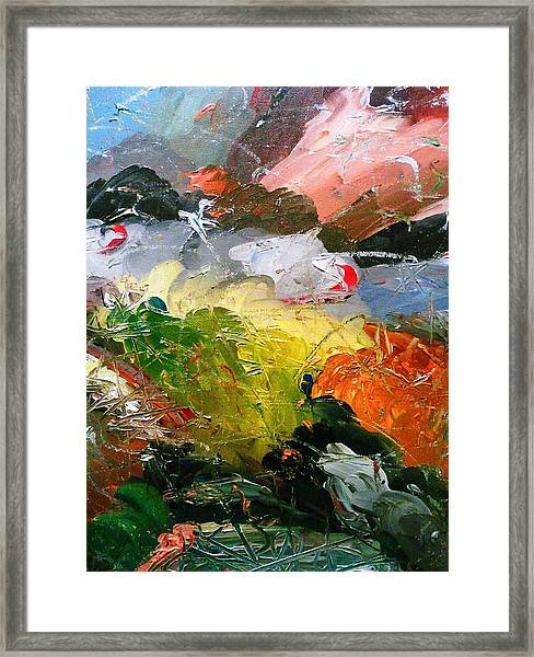 Chaotic Composition Framed Print